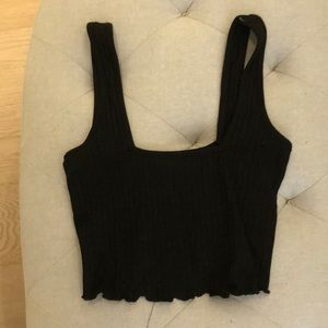 Black cropped tank top